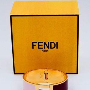 Fendi Jewelry - Fendi Signature FF Logo Click Clack Bangle